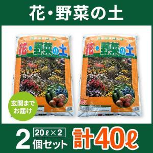 送料無料 このまま使える!花・野菜の土 20L×2袋セット ...