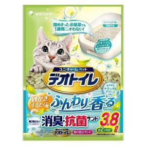 ユニチャーム デオトイレ ふんわり香る消臭・抗菌サンド ナチュラルグリーンの香り 3.8L|171online-shop
