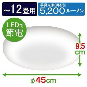 アイリスオーヤマ LED シーリングライト 調光 調色 タイプ ~12畳 CL12DL-5.0の商品画像|ナビ
