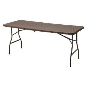 メーカー直送 イージーキャリー ダイニングテーブル ラタン調 ブラウン タカショー|171online-shop