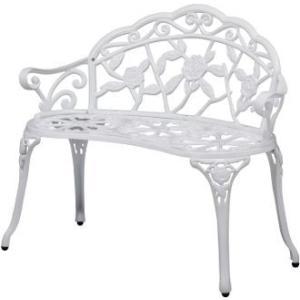送料無料 ベンチとしても、花台としても素敵!! ローズガーデンベンチ ホワイト ホームセンター|171online-shop|02