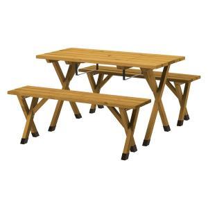 メーカー直送 サーモウッド BBQピクニックテーブルセット  タカショー 171online-shop