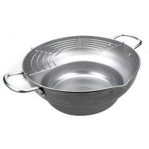 パール金属 食三昧 鉄製段付天ぷら鍋 28cm(アミ付) H-8825 171online-shop