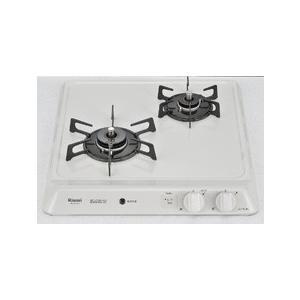 リンナイ ビルトイン ガスコンロ ドロップイン ・ コンパクトシリーズ ホーロー天板 W45cm 3V乾電池タイプ RD421H3S|1885