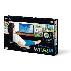【新品】WiiU Wii Fit U バランスWiiボードクロ + フィットメーター ミドリセット(ネコポス便・メール便配送不可)