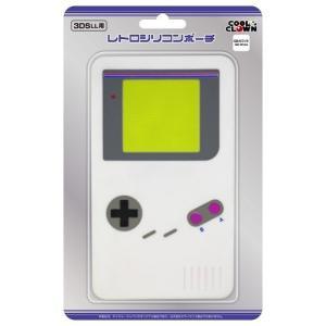 【新品】3DS レトロシリコンポーチ GBホワイト 3DSLL用(ネコポス便・メール便配送不可)|193