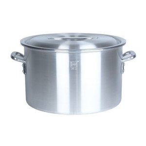 業務用アルミ半寸胴鍋(目盛付) 39cm 28.0L|1956direct