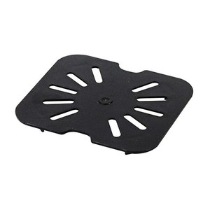 フードパン用ドレンシェルフ 1/6 ブラック 水切り 保存用品 調理器具 ポリカーボネート 丈夫 割れにくい 食器洗浄機対応 業務用 PLPA7160DSBK 1956direct