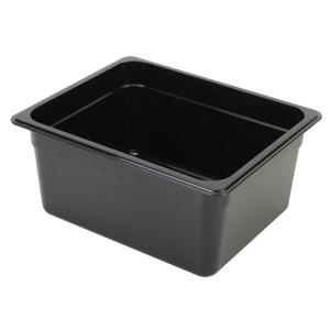 フードパン 1/2 深さ 150mm ブラック 調理バット 調理用品 調理器具 ポリカーボネート 丈夫 割れにくい 食洗機対応 食器洗浄機対応 業務用 PLPA8126BK 1956direct