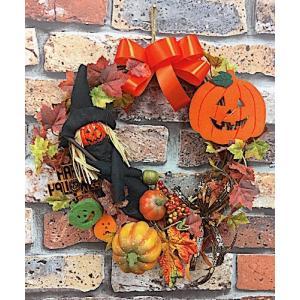 アメリカン雑貨 ハロウィン ディスプレイ リース 壁飾り ドア飾り 玄関飾り 30cm HW-554-FR0004