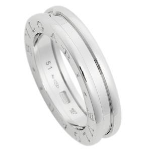 ブルガリ 指輪 リング アクセサリー メンズ レディース BVLGARI RWG1BAND AN852423 ビーゼロワン ワンバンド ホワイトゴールド【サイズ交換不可】|1andone