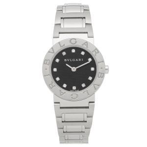 ブルガリBVLGARI時計 ブルガリ 腕時計 レディース ブルガリブルガリ ダイヤインデックス ブラック BB26BSS/12 シリアル有|1andone