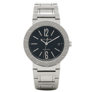 ブルガリBVLGARI時計 ブルガリ 腕時計 メンズ ブルガリブルガリ ブラック SSブレス AUTO BB38BSSD シリアル有|1andone