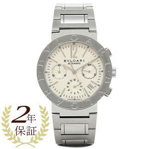 ブルガリBVLGARI時計 ブルガリ 腕時計 メンズ ブルガリブルガリ オートマチック クロノグラフ ホワイト BB38WSSDCH シリアル有|1andone