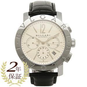 ブルガリBVLGARI時計 ブルガリ 腕時計 メンズ ブルガリブルガリ オートマチック クロノグラフ アリゲーターレザー ブラック/ホワイト BB42WSLDCH シリアル有|1andone