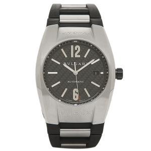 ブルガリBVLGARI時計 ブルガリ 腕時計 メンズ エルゴン オートマチック ラバー ブラック&シルバー/カーボンブラック EG40BSVD シリアル有|1andone