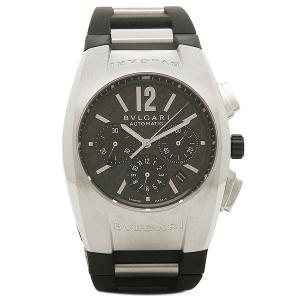 ブルガリBVLGARI時計 ブルガリ 腕時計 メンズ エルゴン オートマチック クロノグラフ ラバー ブラック&シルバー/カーボンブラック EG40BSVDCH シリアル有|1andone