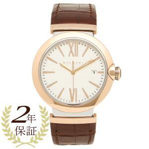 BVLGARI 腕時計 メンズ ブルガリ LU40C6SPGLD シルバー ローズゴールド ブラウン|1andone