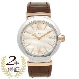 BVLGARI 腕時計 メンズ ブルガリ LU40C6SSPGLD シルバー ローズゴールド ブラウン|1andone