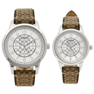 コーチ ペアウォッチ 腕時計 メンズ レディース COACH 14000042 カーキ シルバー|1andone