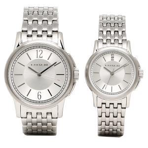 コーチ ペアウォッチ 時計 メンズ/レディース COACH 14000048 ニュークラシックシグネチャー 腕時計 ウォッチ シルバー【new0615】|1andone