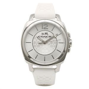 コーチ 時計 レディース COACH 14502093 BOYFRIEND MINI ボーイフレンドミニ シグネチャー 腕時計 ウォッチ シルバー/ホワイト|1andone