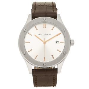 ドルチェセグレート 腕時計 メンズ DOLCE SEGRETO CF420SV シルバー ブラウン 1andone