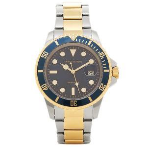 ドルチェセグレート メンズ 腕時計 DOLCE SEGRETO CSB200BU ブルー イエローゴールド シルバー 1andone