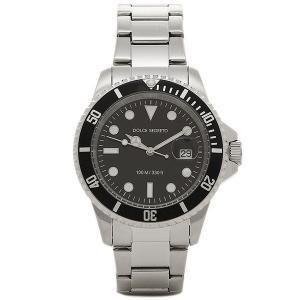 ドルチェセグレート メンズ 腕時計 DOLCE SEGRETO CSB300BK ブラック シルバー 1andone