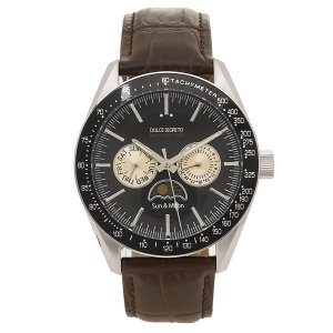 ドルチェセグレート 腕時計 メンズ DOLCE SEGRETO MW390BK-BR ブラック ブラウン 1andone