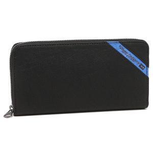 ディーゼル 長財布 DIESEL X03609 P1221 H6169 ブラック ブルー|1andone