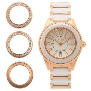 フォリフォリ 腕時計 レディース FOLLI FOLLIE WF0B033BDW セラミック ホワイト/ピンクゴールド ウォッチ|1andone