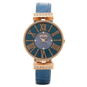 フォリフォリ 腕時計 FOLLI FOLLIE WF13B014SSUBL ブルー ピンクゴールド|1andone
