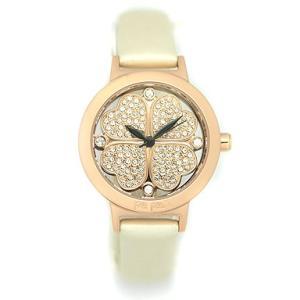 フォリフォリFolliFollie時計 腕時計 レディース WF2R05SSZ-WHT クリスタルフォーハート 四つ葉クローバー レザー ピンクゴールド/ホワイト 1andone