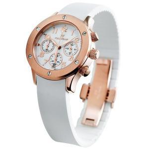 フォリフォリ 腕時計 レディース FOLLIFOLLIE WT6R042SEW            ラバー 時計/ウォッチ ホワイト/ピンクゴールド|1andone