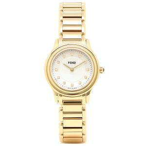 フェンディ 腕時計 レディース FENDI F251424500D1 ホワイト/ゴールド|1andone