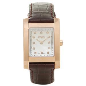 フェンディ 腕時計 レディース FENDI F704242D ホワイト ゴールド ブラウン|1andone