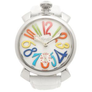 ガガミラノ 腕時計 メンズ GAGA MILANO 5010.01S-WHT-NEW ホワイト マルチカラー シルバー|1andone