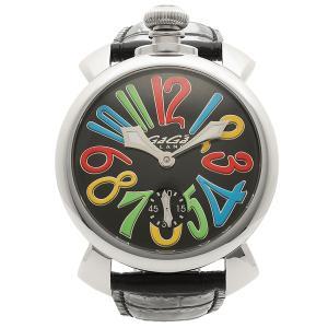 ガガミラノ 腕時計 メンズ GAGA MILANO 5010.02S-BLK-NEW ブラック マルチカラー シルバー|1andone