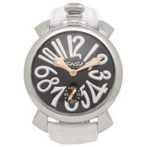 ガガミラノ 腕時計 メンズ GAGA MILANO 5010.06S WHT シルバー ブラック|1andone