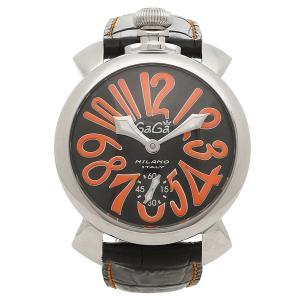 ガガミラノ 腕時計 メンズ GAGA MILANO 5010.11S-BLK ブラック シルバー レッド|1andone