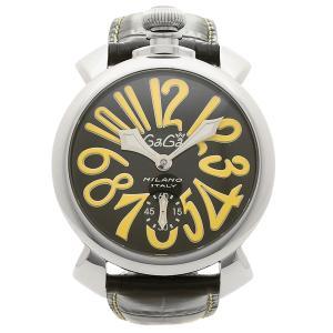 ガガミラノ 腕時計 メンズ GAGA MILANO 5010.12S-BLK ブラック シルバー イエロー|1andone