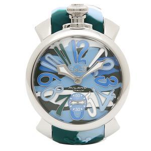 ガガミラノ 腕時計 GAGA MILANO 5010.16S シルバー カモフラージュブルー|1andone