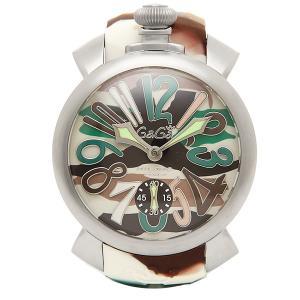 ガガミラノ 腕時計 GAGA MILANO 5010.18S シルバー カモフラージュグリーン|1andone