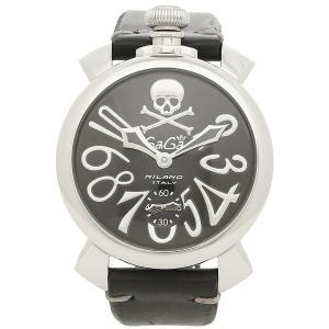 ガガミラノ 腕時計 メンズ GAGA MILANO 5010ART02S BLK シルバー ブラック|1andone