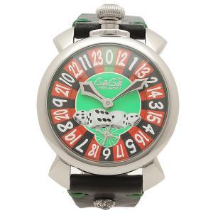 ガガミラノ 腕時計 メンズ 手巻き GAGA MILANO 5010LV01-BLK-SKULL ブラック グリーン|1andone