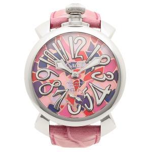 ガガミラノ 腕時計 メンズ GAGA MILANO 5010MOSACO2S モザイクマルチカラー ピンク シルバー|1andone