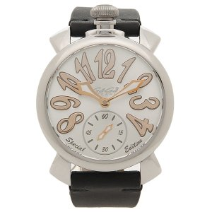 ガガミラノ 腕時計 メンズ 手巻き GAGA MILANO 5010.SP01-BLK ブラック シルバー|1andone