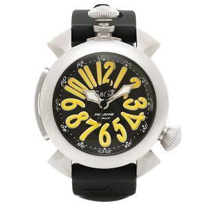 ガガミラノ 腕時計 GAGA MILANO 5040.2-BLKRUBBER ブラック シルバー イエロー|1andone