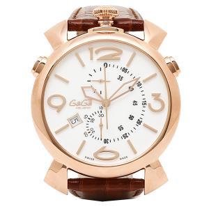 ガガミラノ 腕時計 GAGA MILANO 5098.01BW ブラウン ゴールド ホワイト|1andone